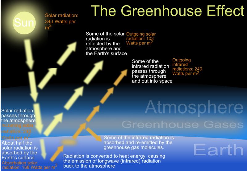 Greenhouse effect schematic